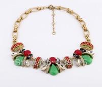Shijie New Hot Sale Guardian Angel Alloy Women European Teardrop Rhinestine Stone Setting Vintage Chokers Necklace
