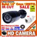 Большой Saleing! Hd 1200TVL 1/3 cmos Видеонаблюдения Видео Открытый Водонепроницаемый IP66 CCTV Аналоговые Камеры инфракрасного Ночного Видения 30 м