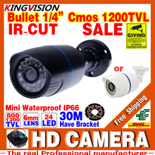 Big Saleing! Hd 1200TVL 1/3cmos Security Surveillance Video Outdoor Waterproof IP66 CCTV Analog Camera infrared Night Vision 30m