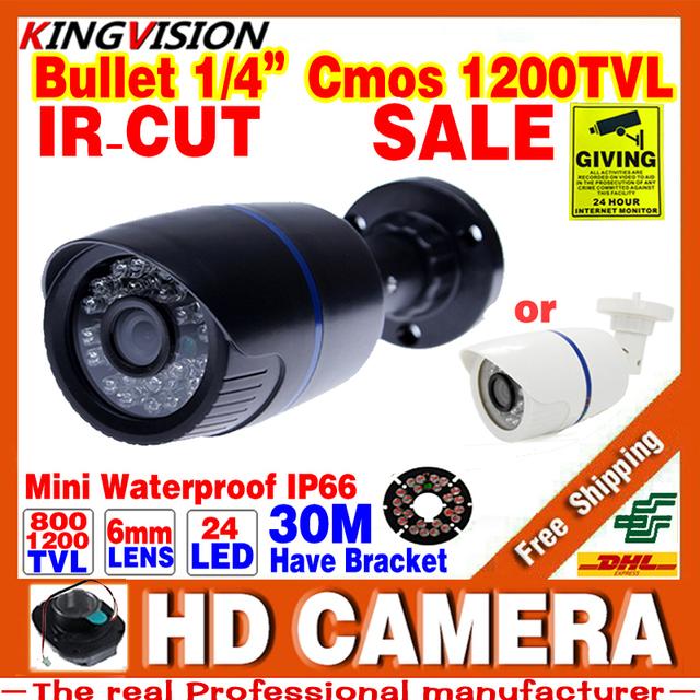 Grandes Saleing! Hd 1200TVL 1/3 cmos de Vigilância de Segurança de Vídeo Ao Ar Livre À Prova D' Água IP66 CCTV Analógico Câmera de Visão Noturna infravermelha 30 m
