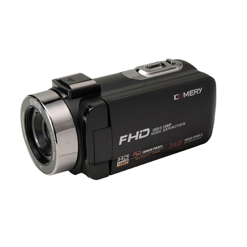 KOMERY nouveautés caméra vidéo caméscope 3.0 pouces IPS HD écran tactile réel 1080 P prise en charge télécommande caméra d'origine - 2