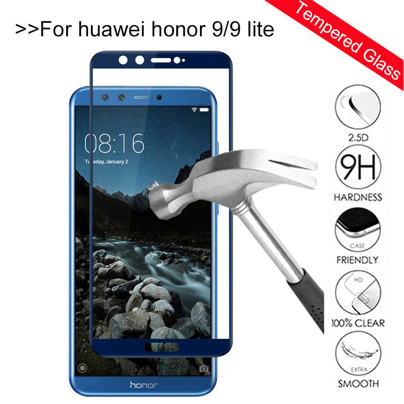 Kaca Tempered Di Honor 9 Lite Screen Protector untuk Huawei Honor 9 Lite 10 Lampu Honor 10 9 Lite Honor 9 Pelindung kaca Film Penutup