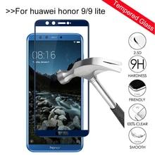 Vidro temperado em honor 9 lite Case For Huawei honor 9 lite Luz honer 9 lite honor 9 Protetor Glas protetor de tela capa filme