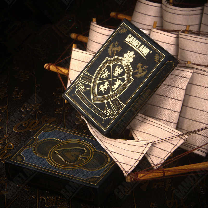 d433da58e377c ... Позолота Золотой Пластик игральные карты черный набор покерных карт  Водонепроницаемый игральные карты POKERSTARS 88*63 ...
