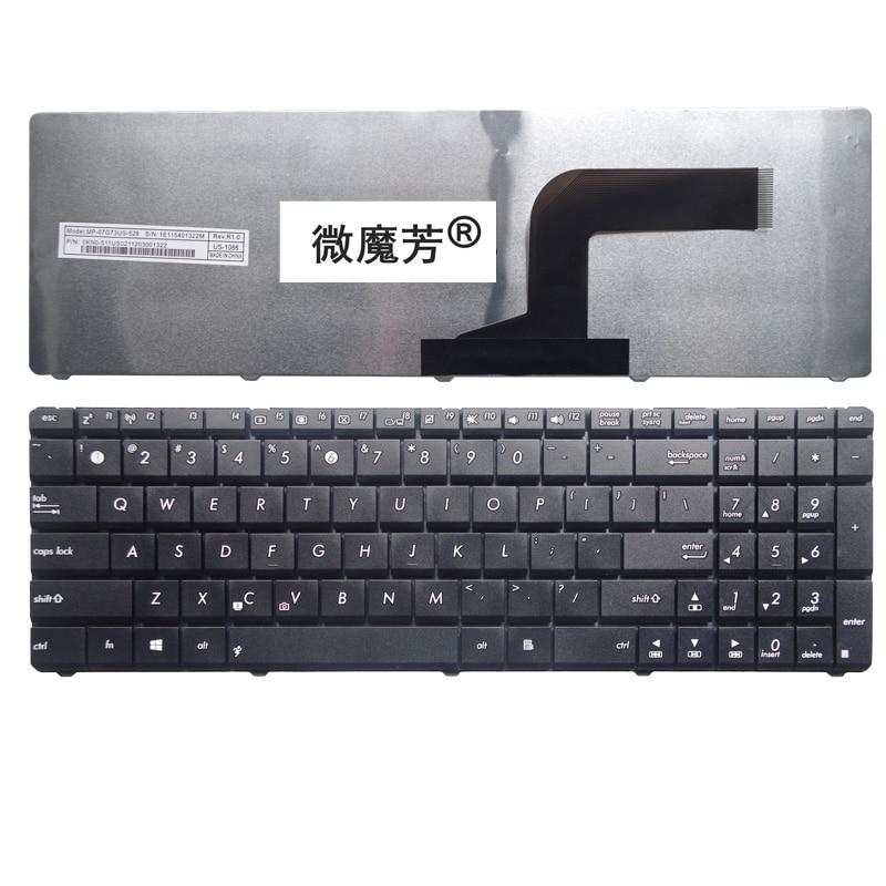 US For Asus K53 K53E X52 X52F X52J X52JR X55 X55A X55C X55U K73 K73B K73E K73S X61 NJ2 Replace laptop keyboard Black New English