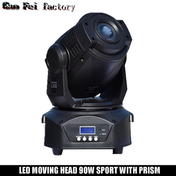 Lyre spot 움직이는 머리 led 빛 90 w gobo 3 얼굴 프리즘 dj 무대 극장 디스코 나이트 클럽에 대 한