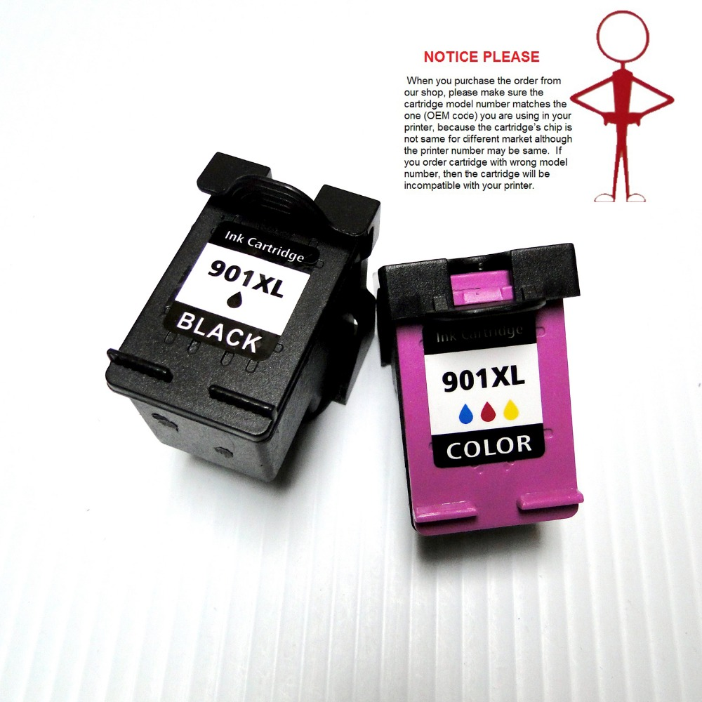 US $19 82 16% OFF|YOTAT For HP 901 for HP901XL remanufactured ink cartridge  for HP 4500 J4500 J4525 J4540 J4550 J4580 J4585 J4640 J4660 J4680-in Ink
