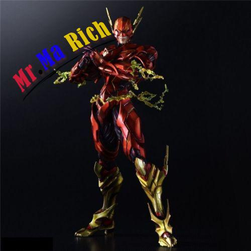 SQUARE ENIX PLAY ARTS KAI VARIANT DC COMICS THE FLASH ACTION FIGURE NEW IN super street fighter iv akuma gouki white variant play arts kai action figure