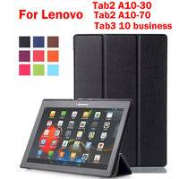 Tab2 A10 70 Caster PU Leather Case For Lenovo Tab2 A10 70F A10 30 X30L X30F