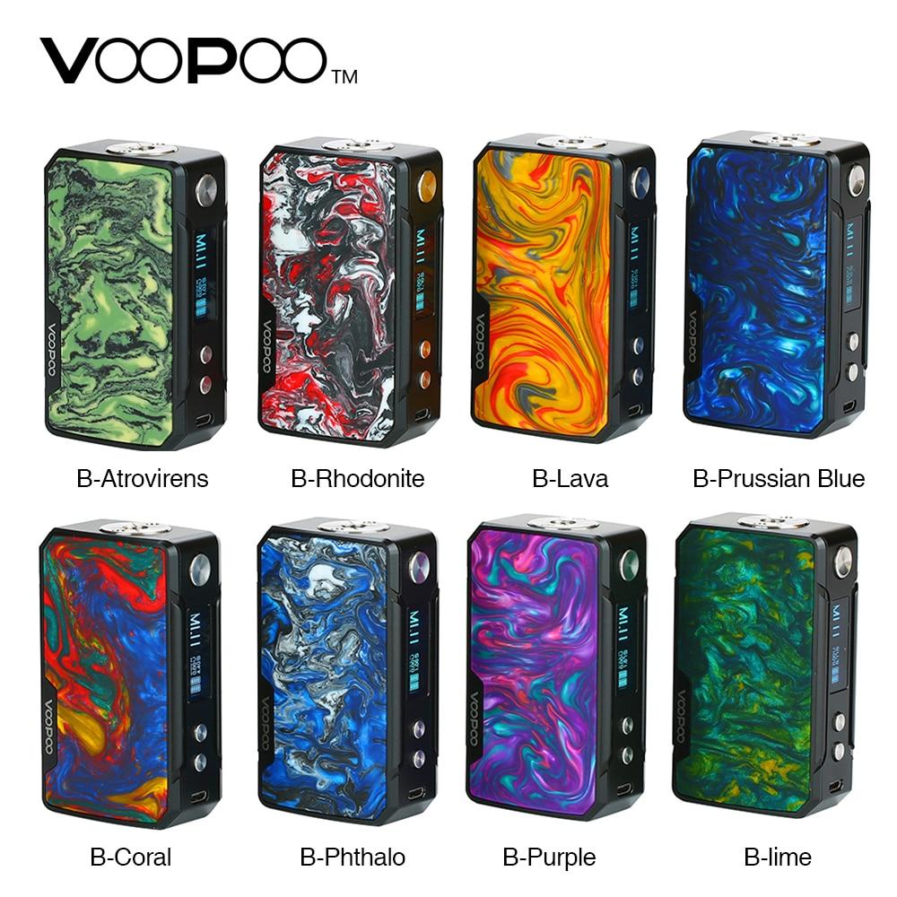 Original 117 W VOOPOO glisser Mini boîte Mod avec 4400 mah batterie E Cigarette vape mod Voopoo glisser Vape vaporisateur VS glisser 2/Shogun