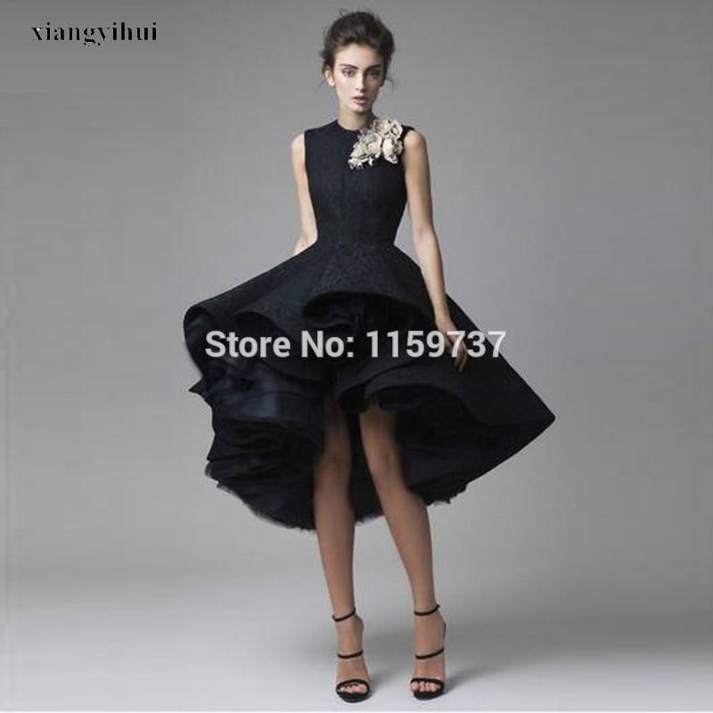 Mid calf black evening dresses