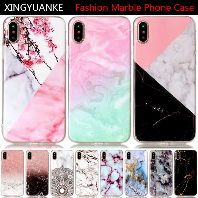 XINGYUANKE For Apple ipod touch5 Case 3D Granite Scrub Marble Stone Phone Case For ipod touch6 Cover Flip Soft Silicone Coque