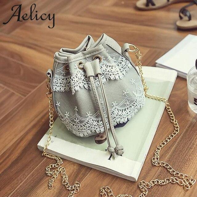 Aelicy Luxury Handbags Women Bags Designer Messenger Bags Lace PU Leather Handbag Shoulder Bags Satchel CrossBody Bag Bolsas