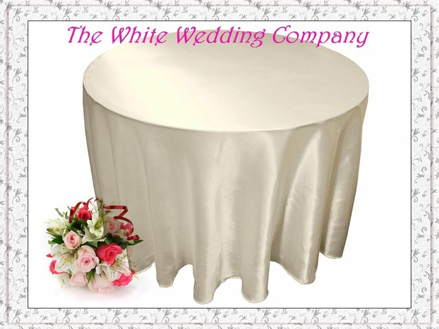 10pcs/lot 132u0027u0027 Round Satin IVORY Tablecloths For Weddings Table Cover Round  Tablecloths Wedding Table Linens