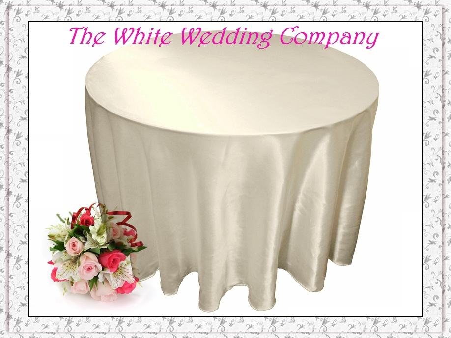 10pcslot round satin ivory tablecloths for weddings table cover round tablecloths wedding table linens