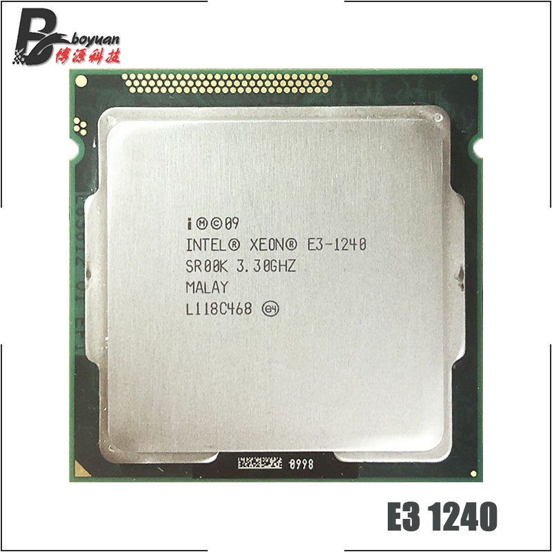 Intel Xeon E3 1240 E3 1240 3 3 GHz Quad Core CPU Processor 8M 80W LGA