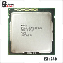 Intel Xeon E3-1240 E3 1240 3.3 GHz Quad-Core CPU Processor 8M 80W LGA 1155(China)