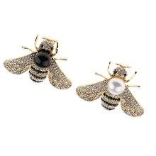 Handmade Pearl Rhinestone bee brooch Honeybee Brooch Insect Lapel Pin Boutonniere for Women Kids Scarf Dress Decorations Jewelry