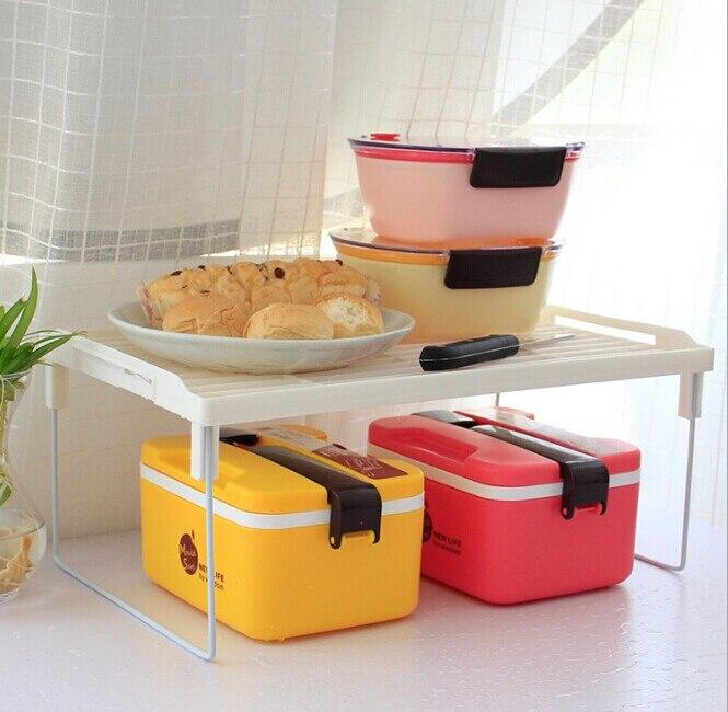 1 pz Più Nuovo Multi utilizzare sovrapposizione di tipo a scatto mensola rinforzo ispessita, pieghevole rack di stoccaggio da cucina vario O0089