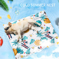 3D Summer Printed Ice Silk Pet Dog Cooling Mat For Cat Dogs Floor Mats Blanket Sleeping Bed Cushion Cold Pad Puppy Kitten S XL