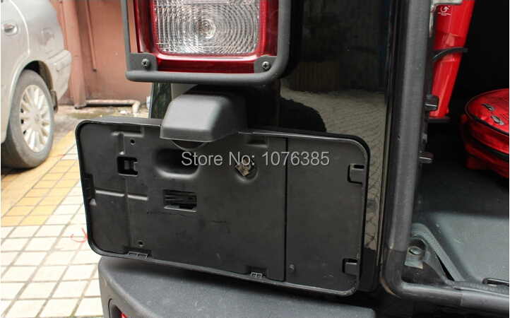 Rear Licence Plate Holder Bracket With Light L& For 2007 2015 Jeep Wrangler JK-in License Plate from Automobiles u0026 Motorcycles on Aliexpress.com | Alibaba ... & Rear Licence Plate Holder Bracket With Light Lamp For 2007 2015 Jeep ...