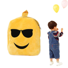 Cute Emoji Expression Shoulder School Child Bag Backpack 1 PC Cartoon Personality Soft Satchel Rucksack Bag Wholesale NOA27