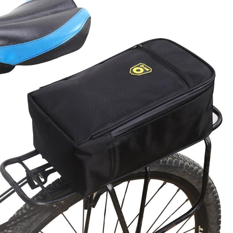 Splashproof Bicycle Back Seat Bag Road Bike Rack Back Rear Seat Tail Carrier Trunk Pouch Handbag with Light Black Pannier Bags все цены