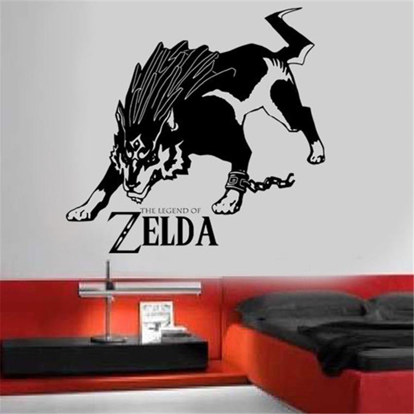 Us 6 99 Zelda Legend Wolf Link Vinyl Wall Art Sticker Removable Decals Nursery Kids Room Decor Home J421 In