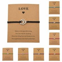 Новые серебряные браслеты с принтами в виде лап собачьей лапы для женщин и девочек, лучший друг, подарки для влюбленных, ювелирные изделия для дружбы