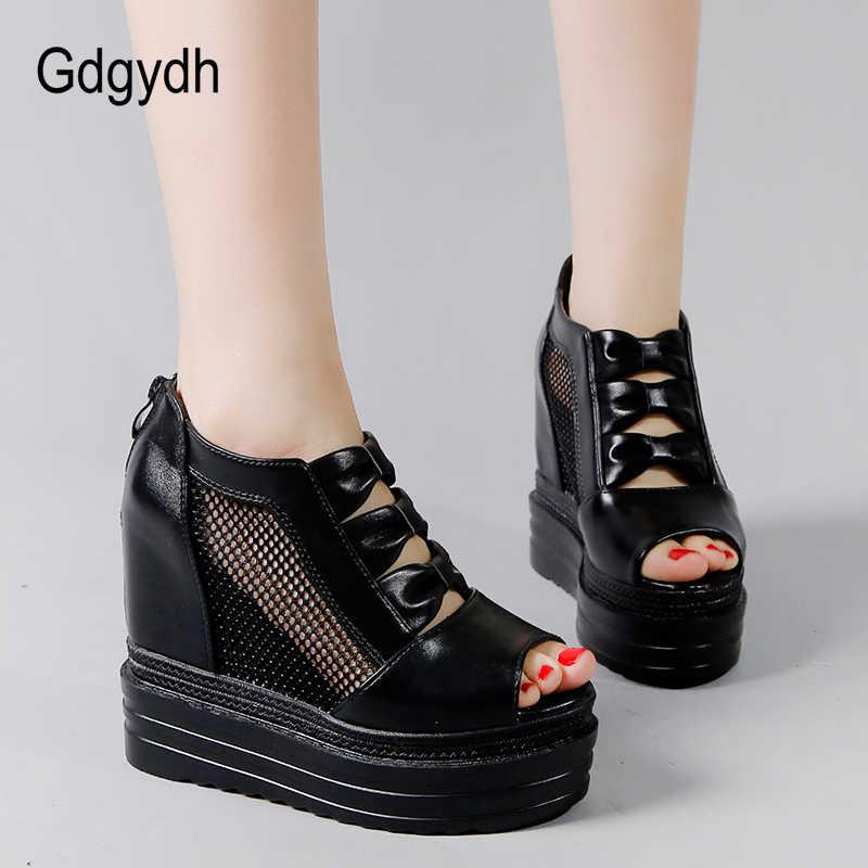 Gdgydh Peep Toe Yaz Ayakkabı Kadın Platformu Takozlar Botları Yaz Için Moda kelebek-düğüm Bayanlar Yaz Ayakkabı 2019 Yeni
