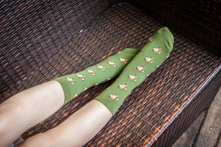 Quality New Creative Men Women Zoo Cotton Socks Animals Fox Dog Female Cartoon Unisex Lovely Women Socks Drop Shipping 1 Pair 10