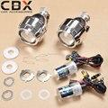 Frete Grátis LHD/RHD 2.5 polegadas Mini HID Bi-xenon projetor H1 ESCONDEU fiação da lâmpada H4 para Farol Do Carro Retrofit H4 H7 9005 9006