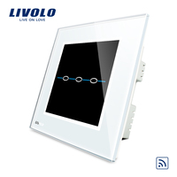Free Shipping Ivory White Crystal Glass Panel VL R103R SWC 220V Wireless Remote Control Home Wall