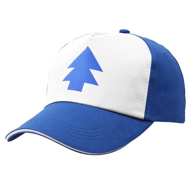 d4f1511128c Blue Pine Tree Hat Cartoon Trucker Snapback Curved Bill Dipper Adult Men  Dad Hat Gravity Falls Baseball Cap