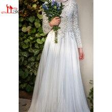 Arabic Chiffon Long Sleeve Muslim Evening Dress Beaded High Neck A-Line Muslim prom Dress Pictures turkish islamic clothing