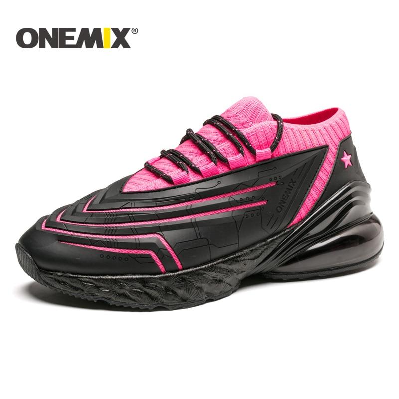 ONEMIX 2017 kudde sneaker original zapatos de hombre manliga atletiska utomhus sportskor manar löparskor storlek 39-46