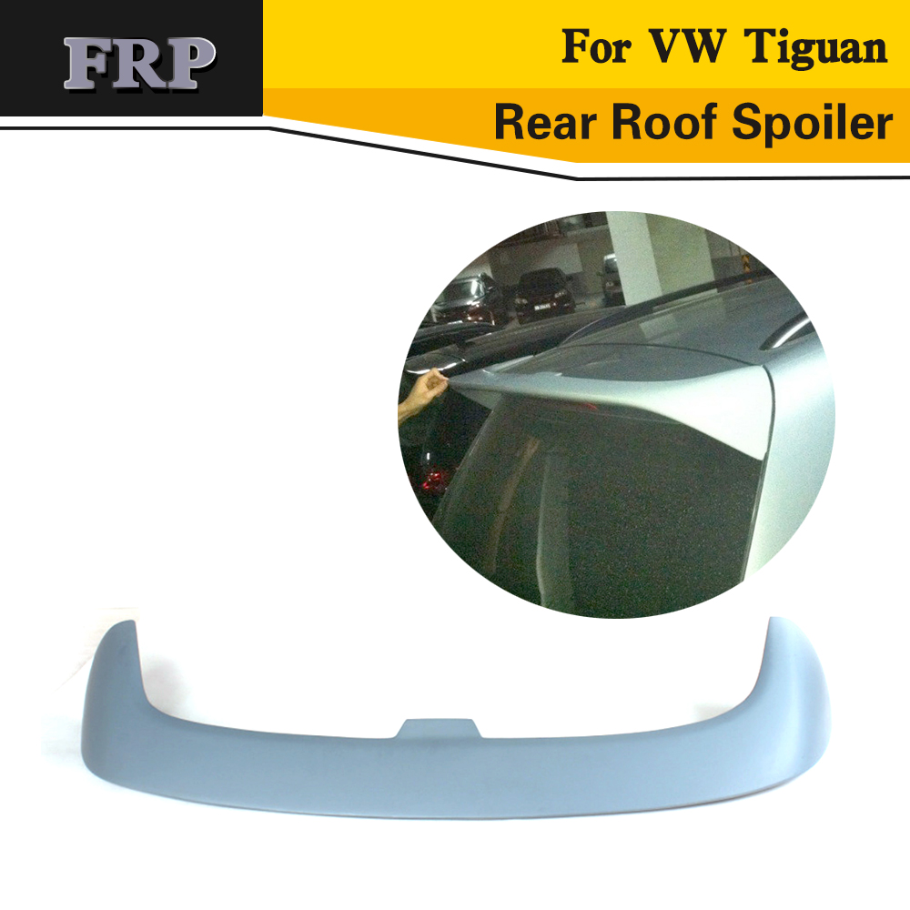 Car Styling FRP Car Rear Wing Spoile Boot Lip For VW Tiguan 2012UP