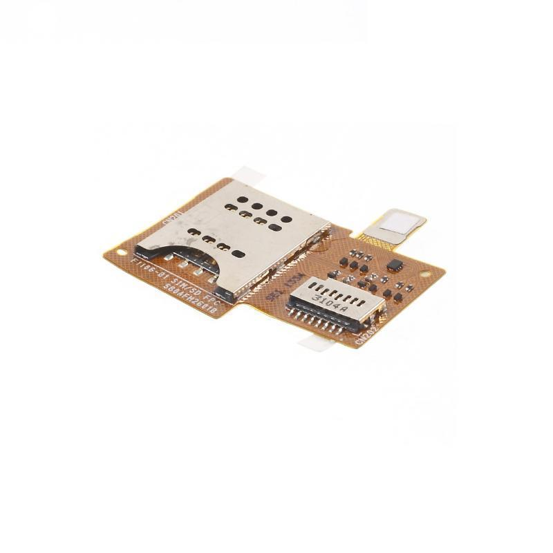 For Sony Xperia Miro ST23i SIM And Micro SD Memory Card Holder Flex Cable