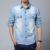 Fashion2016 Primavera Otoño camisa de Mezclilla de Algodón Para Hombre Tapas de Los Hombres de La Vendimia Vaquero Agua de lavado Sólido Con El bolsillo de Manga Larga Tallas grandes 5XL