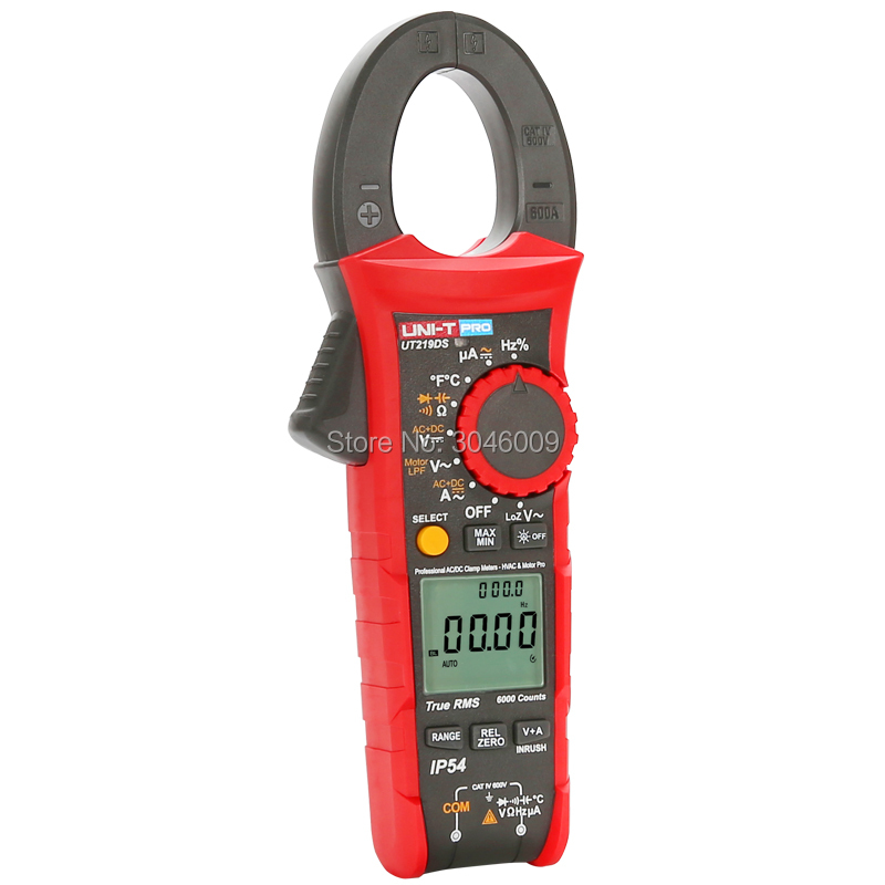 Image 3 - UNI T UT219DS true RMS Professional Clamp Meter; IP54 dust/waterproof digital ammeter, LoZ voltage measurementClamp Meters   -