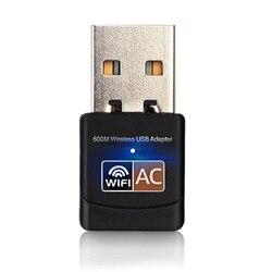 Wireless USB WiFi Adapter 600Mbps wi fi Antenna PC Network Card Dual Band 2.4+5.8Ghz usb Lan Ethernet Receiver 802.11ac Wi-fi