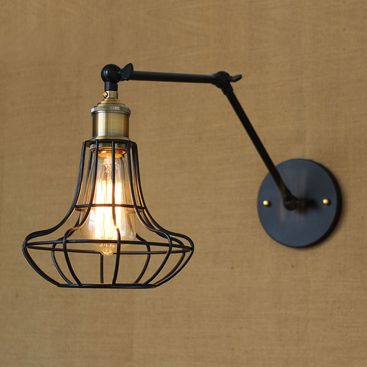 ФОТО American country industry wind bar counter Double pure copper, wrought iron wall lamp,  loft postmodern classical engineering