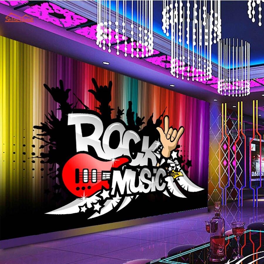 大抽象rock Nロール音楽ktv 3dルーム壁紙風景写真の壁紙3 Dリビング