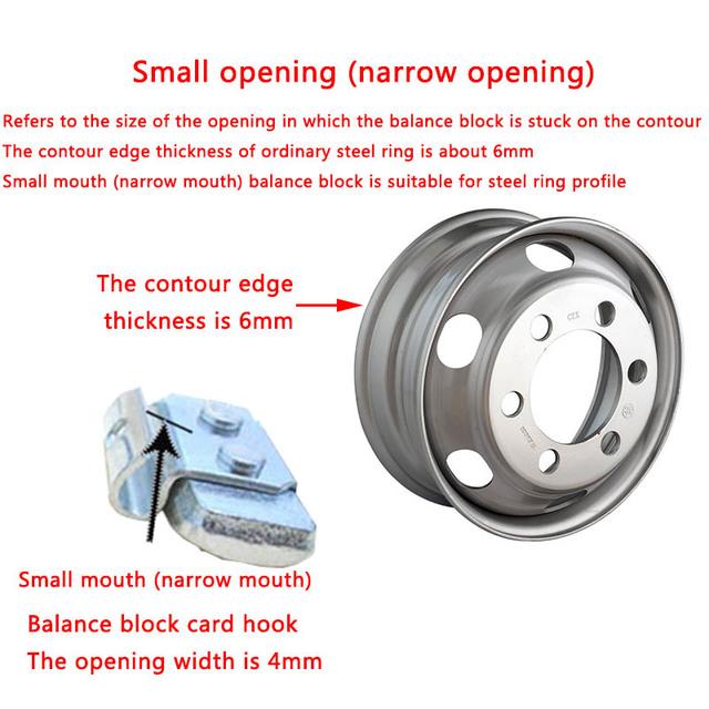 Iron hook wheel balance block 5g-30g small tyre balance block knock type hook weight block The tire weight
