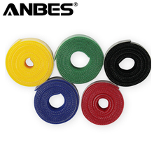 Magic Strap Cord Cable Winder Marker Wraping Cabling Organizer DIY Cable Ties Belt Tailor Nylon Hook Tie For USB Computer Lines