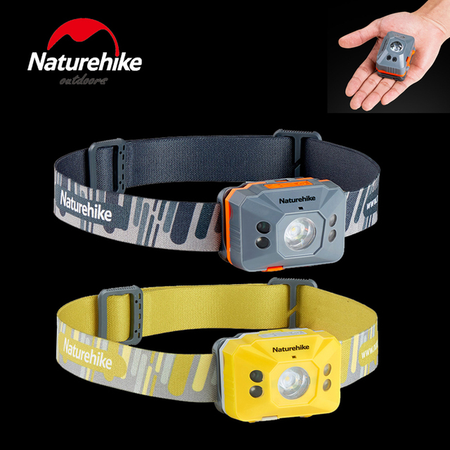 LED Headlamp 4 Modes Headlight Sensor light Ultralight & waterproof for Camping Running Hiking and Reading, USB Cable Included