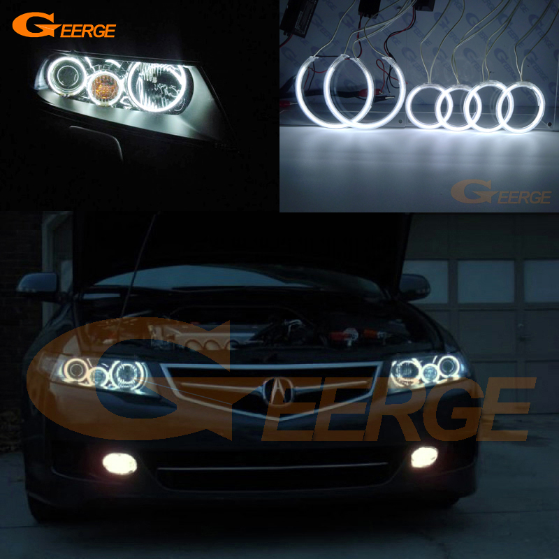 For ACURA TSX CL9 2004 2005 2006 2007 2008 Excellent Angel Eyes Ultra bright illumination CCFL angel eyes kit Halo Ring for chrysler pacifica 2007 2008 halogen headlight excellent angel eyes ultra bright illumination ccfl angel eyes kit