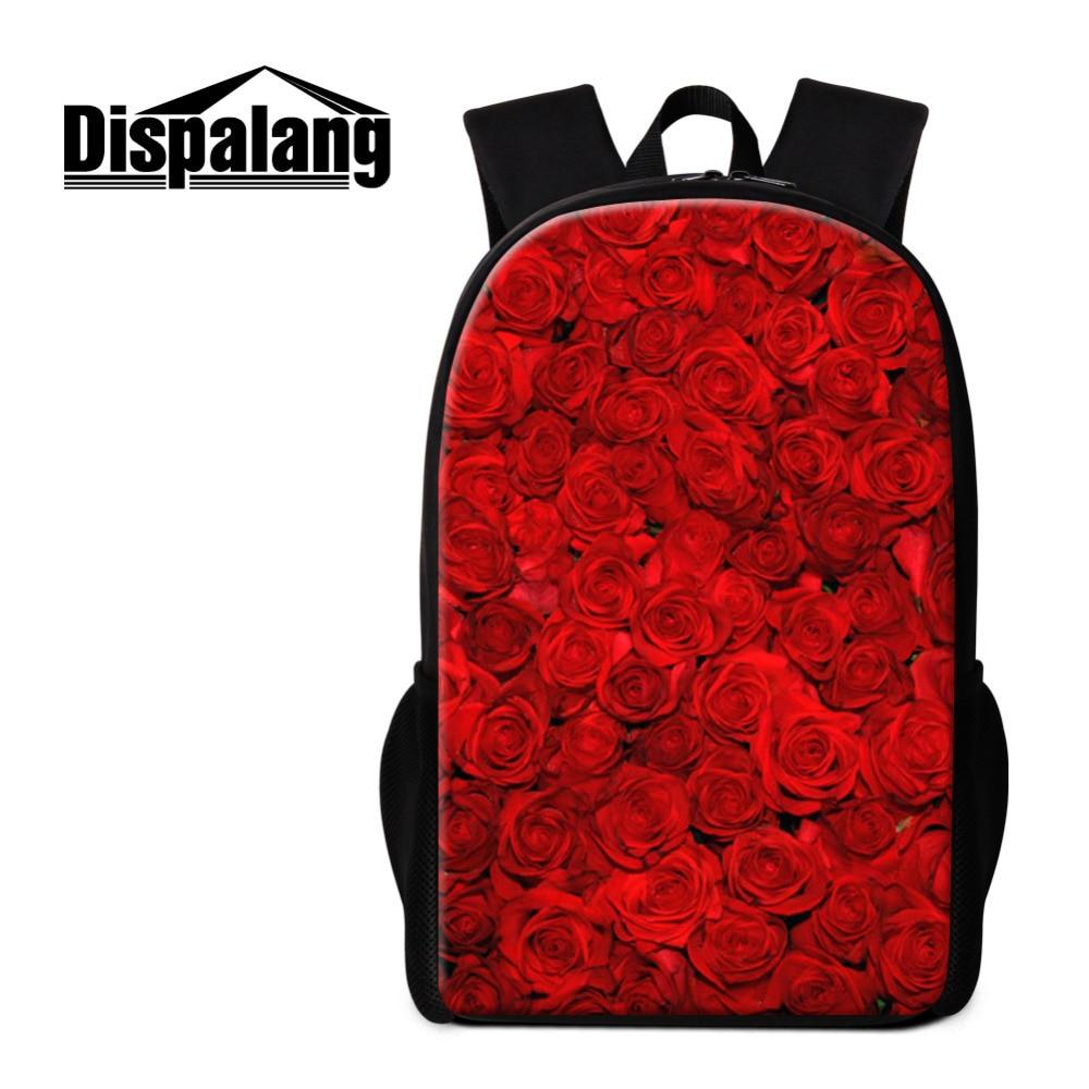 Dispalang Роза детская школьная сумка для подростков Обувь для девочек цветок печати студенты рюкзак школьный Дети Mochila Infantil Книга сумка