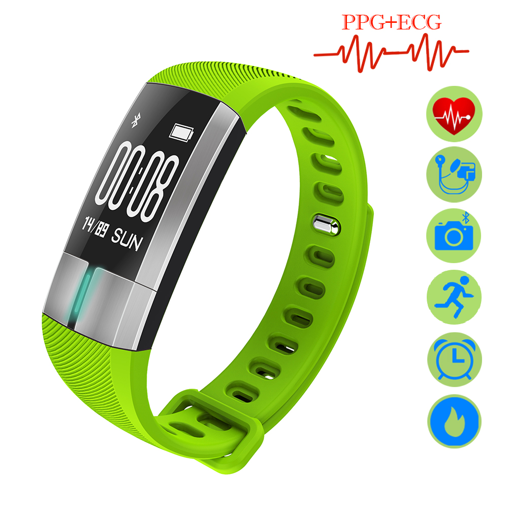 ZUCOOR Smart Band Bracelet Blood Pressure Tonometers RB47 Pedometer Fitness Step-meter Wearable Devices ECG+PPG Pulse Monitor