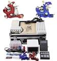 Mini kit del tatuaje del arrancador equipo herramienta tatuaje completo Body Art 2 ametralladoras 28 colores de tinta YLT-118